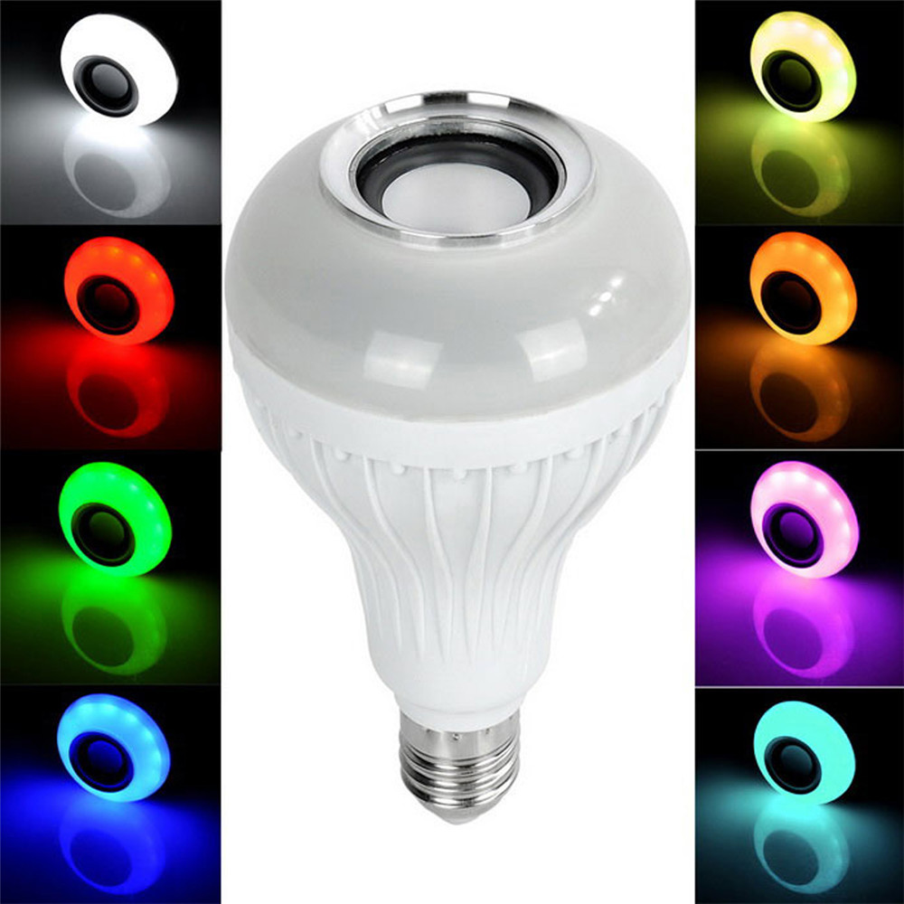 E27 Colorful RGB LED Bulb Bluetooth Speaker remote control Bluetooth Music Bulb wireless Audio Lamp Free Shipping<br><br>Aliexpress