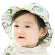 Summer Bucket Hats For Baby Soft Cotton Bucket Hat Infant Sun Beach Cap for Newborn Baby Girl Boy Toddler Sun Hats(China)