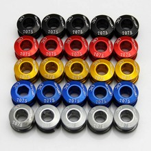 5PCS Bicycle Chainwheel Screws Alloy CNC 7075 T6 Chain Ring Wheel Bolt Road MTB Bicycle Disc Screws for Crankset Bicycle Parts(China)