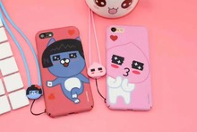Korea Cute Kakao Friends Honey Peach NEO Apeach Ryan Hard Plastic Case Cover With Same Paragraph Lanyard For Iphone6 6S 7 7Plus