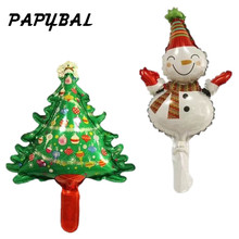 10pcs mini Snowman Santa Claus Foil Balloons Merry Christmas Decorations Inflatable Xmas Air Balloons Event Party Supplies(China)