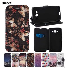 FKISSME Wallet Case for Samsung Galaxy J2 Prime Colorful Art Painting Flip Leather Cover for Samsung Galaxy J2 Prime G532F G532(China)