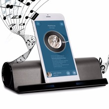 Phone Holder BT-10 Speakers Hands-free Wireless Stereo Speaker AUX audio Input Loudspeaker for iPad/iPhone for Samsung Stand