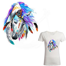 Hot 25*20cm Fairy tale style beautiful horse Iron On Patches DIY T-shirt  jacket Grade-A Thermal transfer stickers
