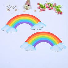 2pcs/set 2017 kindergarten children room bedroom 3D rainbow bubble wall stickers Kindergarten foam EVA stickers 35