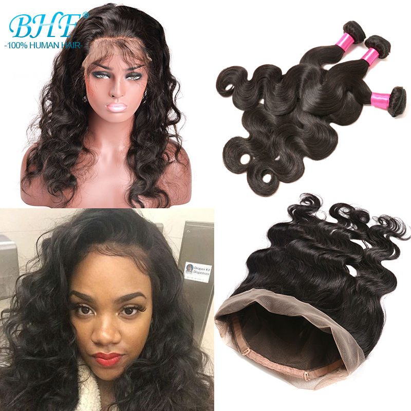 360 Lace Frontal With Bundles Lace Frontal With Bundles Body Wave 360 Lace Frontal Closure With Bundles With Baby Hair<br><br>Aliexpress