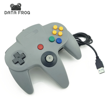 Wired USB Game Controller Gaming Joypad Joystick USB Gamepad For Nintendo For Gamecube For N64 64 PC For Mac Black Gamepad(China)
