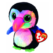 "Pyoopeo Ty Beanie Boos 6"" 15cm Beaks the Toucan Bird Plush Regular Stuffed Animal Collectible Soft Big Eyes Doll Toy(China)"