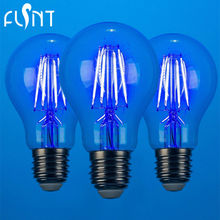 3pcs/pack energy saving 120V support dimmer Edison LED filament bulb E26 Blue LED party bulb 4W 100-240V colorful LED light lamp(China)