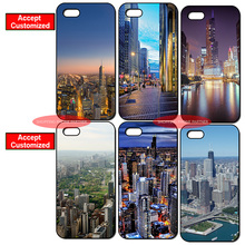 Chicago United States Cover Case for iPhone 4 4S 5 5S SE 5C 6 6S 7 Plus iPod Touch 5 LG G2 G3 G4 G5 G6