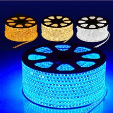 LED Strip 5M/30M 110-220V SMD 5050 Flexible Led Strip Light give Power Plug 60 leds/m IP65 Waterproof led Ribbon Freight charge(China)