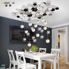 Modern LED Iron Ceiling Lights Glass ceiling lights vintage creative ceiling lights for Dining room Resturant creative ceilings