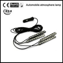2016 4x9 LED 8 COLORS Led Car Atmosphere Lights Decoration Lamp 12v Auto CarLed Interior Lights Glow Decorative Lamp Bulb