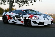 Jumbo Red Camo Vinyl Car Wrap Elite Red Jumbo Arctic Camouflage Vinyl Wrapping Film Size:1.50*30m/Roll(China)