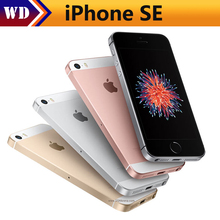 "Original Unlocked Apple iPhone SE Phone 4G LTE Mobile Phone Dual Core 4.0"" 12MP iOS 2G RAM 16/64GB ROM Smartphone"