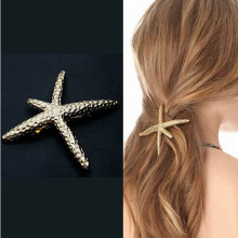 Korea Newest Design Exquisite Metal Hair Clips Super Satr Starfish Hairpins Hairwear Accessories Fashion Jewelry No Boxs H311(China)