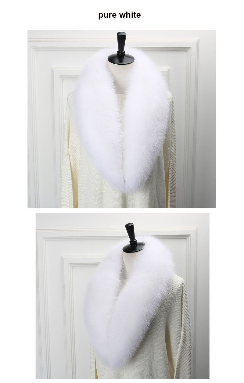 fox collar 110 pure white white 1