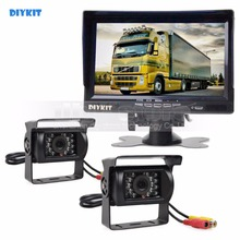 Buy DIYKIT 2xIR CCD Rear View Car Camera + 7 inch HD TFT LCD Car Monitor Reverse Rear View Monitor Remote Control for $72.23 in AliExpress store