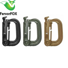 High quality outdoor 1 Pcs / lot paracord keychain shape carabiner webbing belt / strap bergen rucksack ITW ghillie
