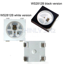 50~1000pcs WS2812B (4pins) 5050 SMD Black/White version WS2812 Individually Addressable Digital RGB LED Chip 5V(China)