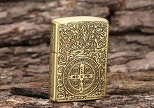 Free shipping to the high quality double metal Constantine lighter box of kerosene windproof lighters
