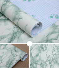 30*200cm Green Look Marble Gloss Self Adhesive furniture Vinyl Decor Film Counter Kitchen Home Decals Wall Stickers12''*79''