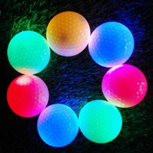 2 Pcs Flash Light Tracker Glitter Glow Golf Balls LED Electronic Golfing LED Flash Golf Balls 4 Colors