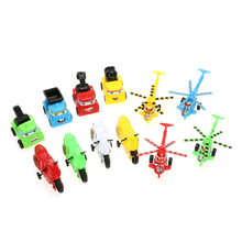 12pcs Toys for Children Mini Pull Back Car Truck Helicopter Motorcycle Kids Child Car Toy Set