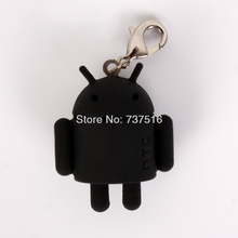 Lovely Android Mini Black Robot Figures Toy Doll Mascot Collectible Product Rare New Model Toys US Free ship(China)