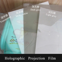 Holographic Projection Film Rear projection film 4 Colors Transparent&White&Light grey&Dark grey color 1.52X0.5M(China)
