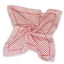 Silk scarf headband small facecloth square in 50cm Red dot scarf bandanas handkerchief neckerchief muffler b297(China)
