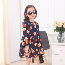 2016 Fashion Autumn Winter Style Girls Printed Christmas Clothes Infant Kids Evening Costume Baby Next Party Princess Dresses