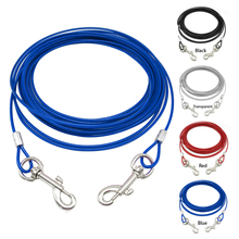 Dog Tie Out Down Cable Lead Leash Extention Chew Proof Wire for Outdoor Yard Camping Fit For Small Medium Large Dogs 3M 5M 10M(China)
