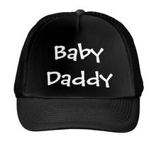 Baby Daddy Letters Print Baseball Cap Trucker Hat For Women Men Unisex Mesh Adjustable Size Black White Drop Ship M-37(China)