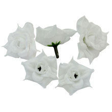 50pcs White Simulation Roses Virtual Flowers For Wedding Decoration Silk Flowers Weeding Home Party Decor Accessories