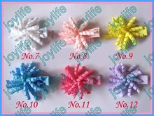 "free shipping 280pcs Girl 1.5"" korker hair bows Pretty Corker hair bows use 1/8"" ribbon small hair bow clips(China)"
