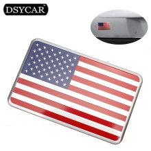 DSYCAR Metal American US Flag Car sticker logo Emblem Badge Car Styling sticker For Jeep Bmw Fiat VW Ford Audi Honda Toyota Lada