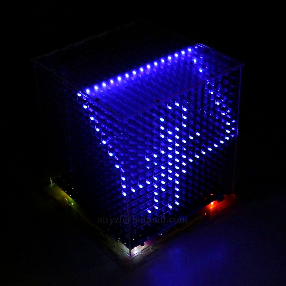 2016 Newest 3D16 mini Light cubeeds LED DIY KIT ,3D 16 16x16x16 electronic diy kit, LED Display parts,Christmas Gift,for TF card<br><br>Aliexpress