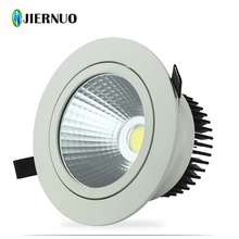 New 7W 9W 12W 15W 18W Dimmable Recessed Warm/cold white led downlight COB LED Spot light led ceiling lamp AC85-265V CJ