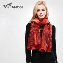[VIANOSI] Brand Wool Scarf Women Thicken Warm Winter Scarf Woman Red Printing Scarves and Stoles Long Shawl Wrap VA056(China)