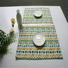 Cotton Linen Rectangular Tablecloths Wholesale Table Cloth Napkin Placemat 32cm*45cm Insulation Pads Dining Table Place Mat