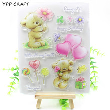 YPP CRAFT Lovely Bears Transparent Clear Silicone Stamp/Seal for DIY scrapbooking/photo album Decorative clear stamp