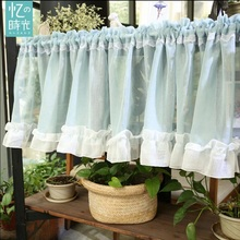 cafe curtains short curtain small tulle kitchen head curtain finished product short curtains TDX008#30(China)