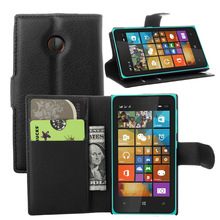 Luxury Wallet Style PU Leather Case for Microsoft Lumia 532 with Card Holders Smart Stand Soft Cover case for Lumia 532(China)