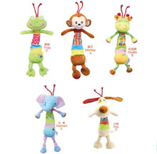 Baby plush lathe hanging toy for bed ring bell paper animal soft toy infant toys for child gift educational Appease