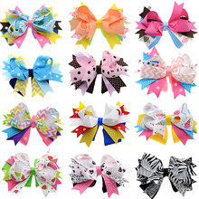 12PCS 4.5-5 inch Loopy Spike Hair Bows Alligator Clip Birthday Hair Clips Women Hair Pin Luxury Dance Hair Accessories for Girls(China)