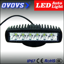 OVOVS free shipping car accessores factory supplier 12v 18w led work light for truck offroad 4x4