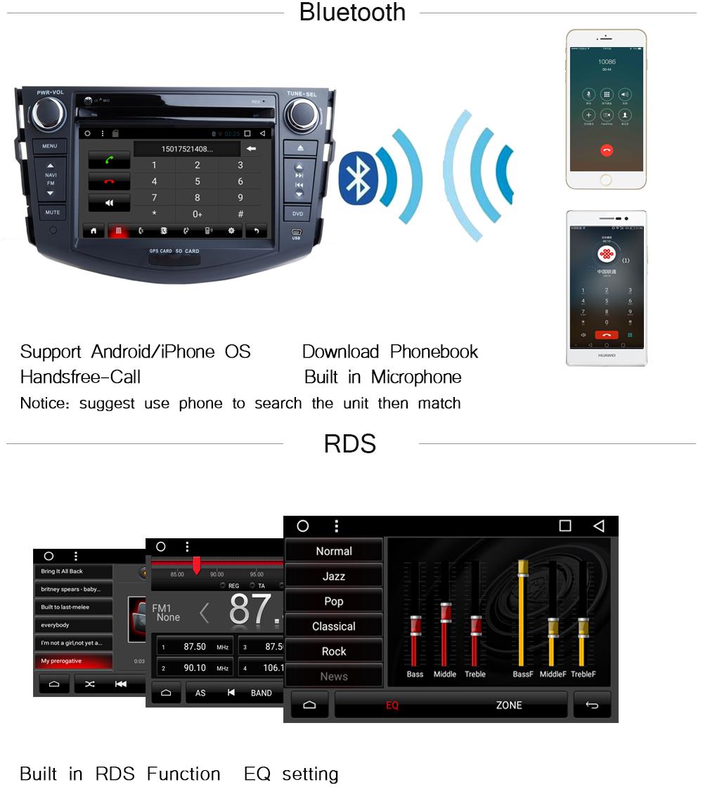 Toyota RAV4 Audio Video Stereo GPS Navigation Radio