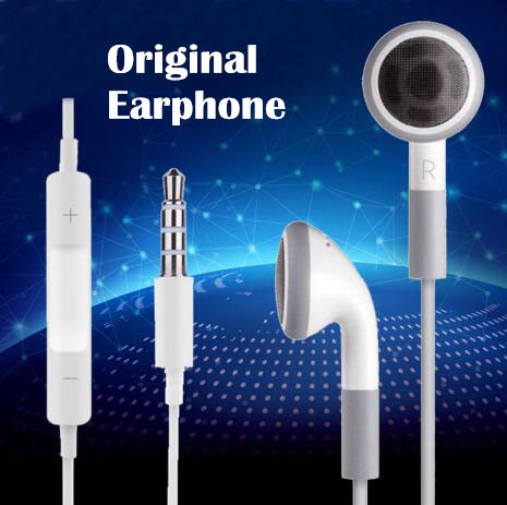 Original para stereo Earphone flat heard noise canceling earbuds With Mic and voice control for Apple iPhone6 6s 5 5S 4 4S<br><br>Aliexpress
