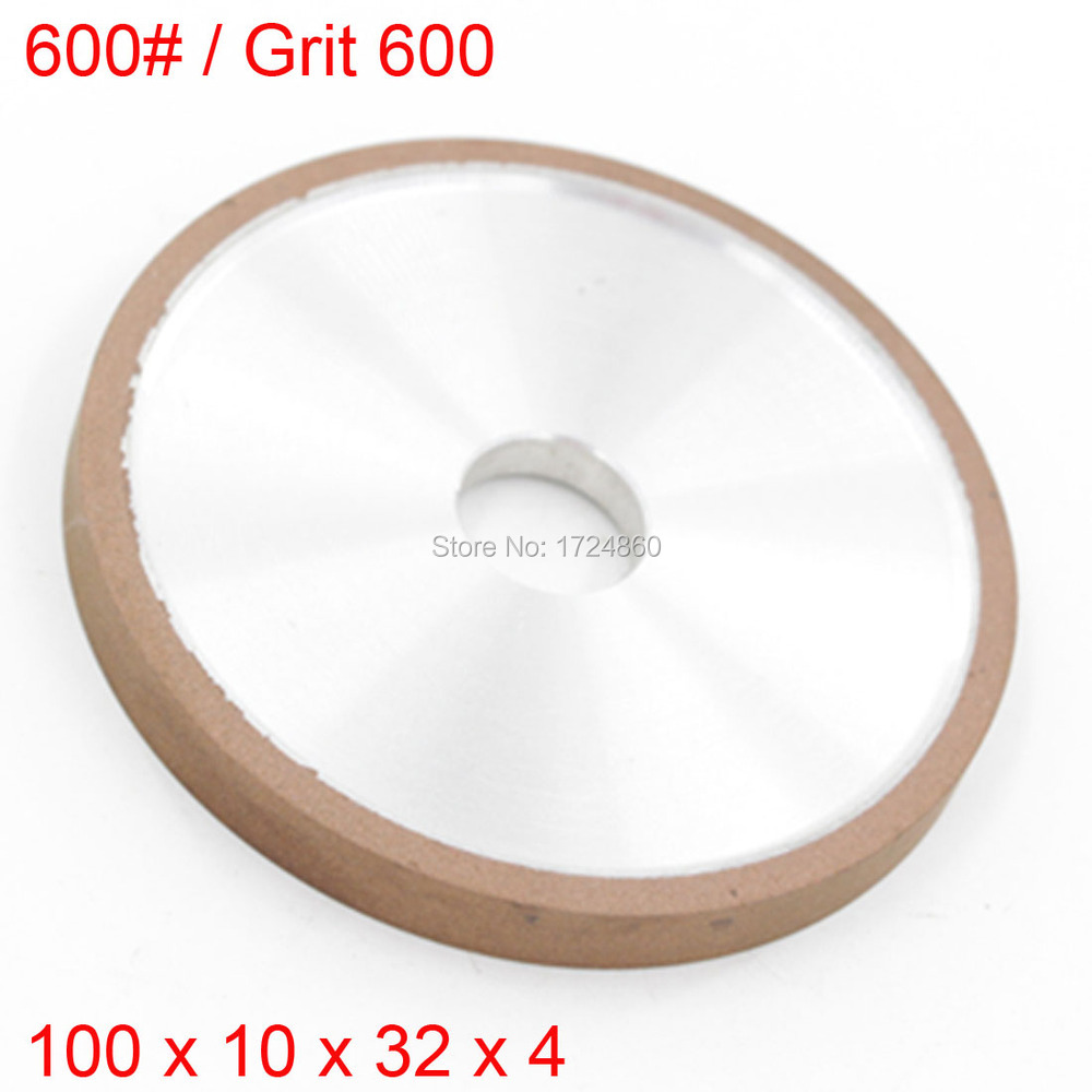 Hot Sales Resin Diamond Grinding Wheels 75% Concentration 600# Plain Wheel 600 Grit 100mm x 10mm x 32mm x 4mm<br><br>Aliexpress